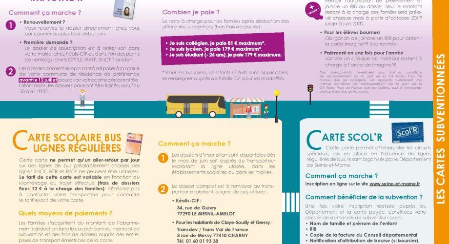 carte imagine r renouvellement Aide financière aux transports en commun Imagine'R | Ville Gonesse